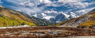 Ashcroft, fall, panorama, aspen
