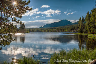 Summer, Rocky Mountain National Park, Sprauge Lake. fishing.