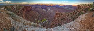 panorama, canyonlands, Utah, sunset