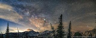 panorama, rocky mountain national park, ,milky way, longs peak