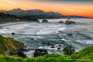 Ecola state park, cannon beach, Oregon, haystack rock, sunrise, ocean