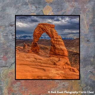 Evening at Delicate Arch on Slate