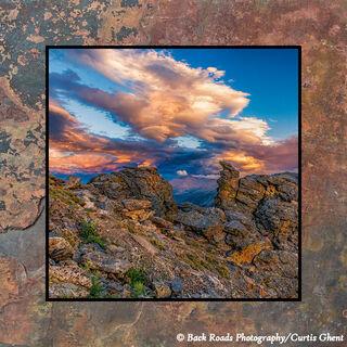 High Mountain Sunset on Slate