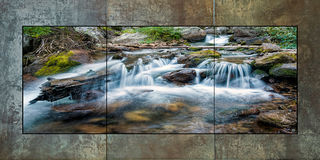 Icy Brook Cascade Triptych