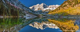 panorama, maroon bells, Colorado, fall