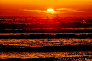 cannon beach, sunset, orange,