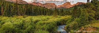 panorama, rocky mountain national park, sunrise, colorado