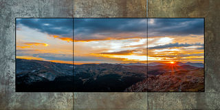 Sunset at Rock Curt Triptych