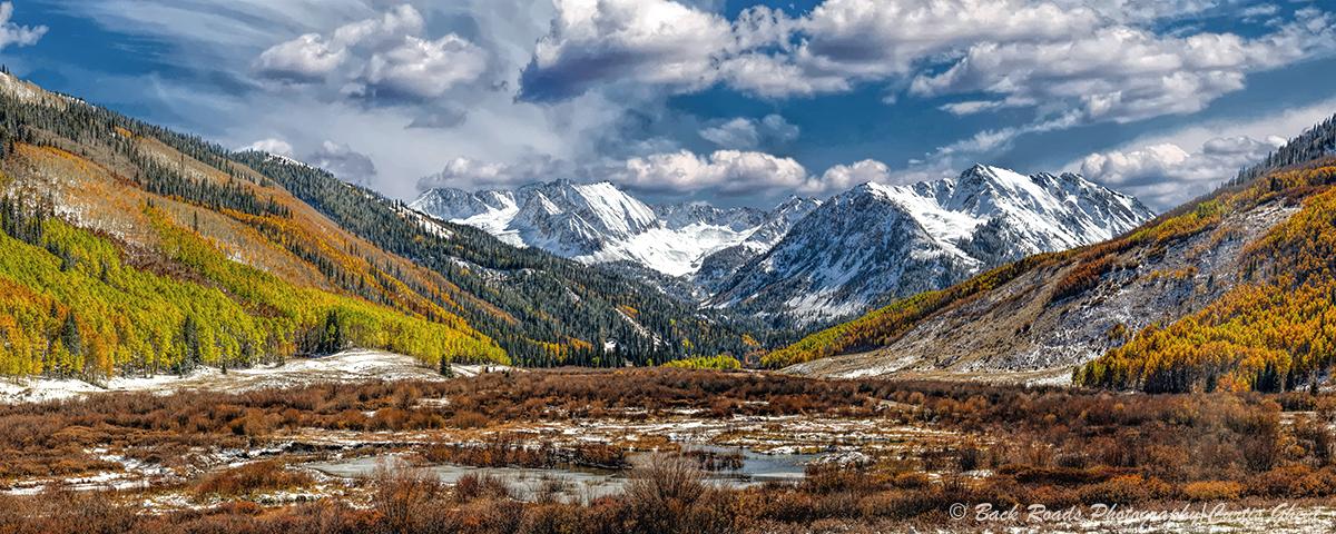 Ashcroft, fall, panorama, aspen , photo