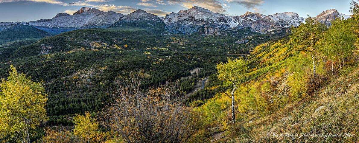 panorama, rocky mountain national park, Colorado, fall, photo