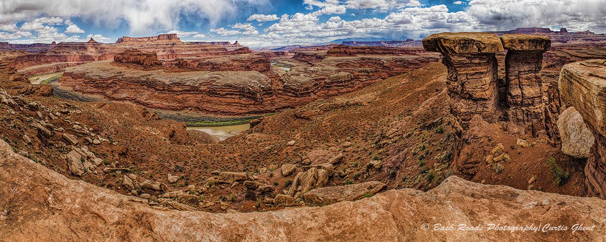 Panorama, canyonlands, Utah, moab, Colorado river, photo