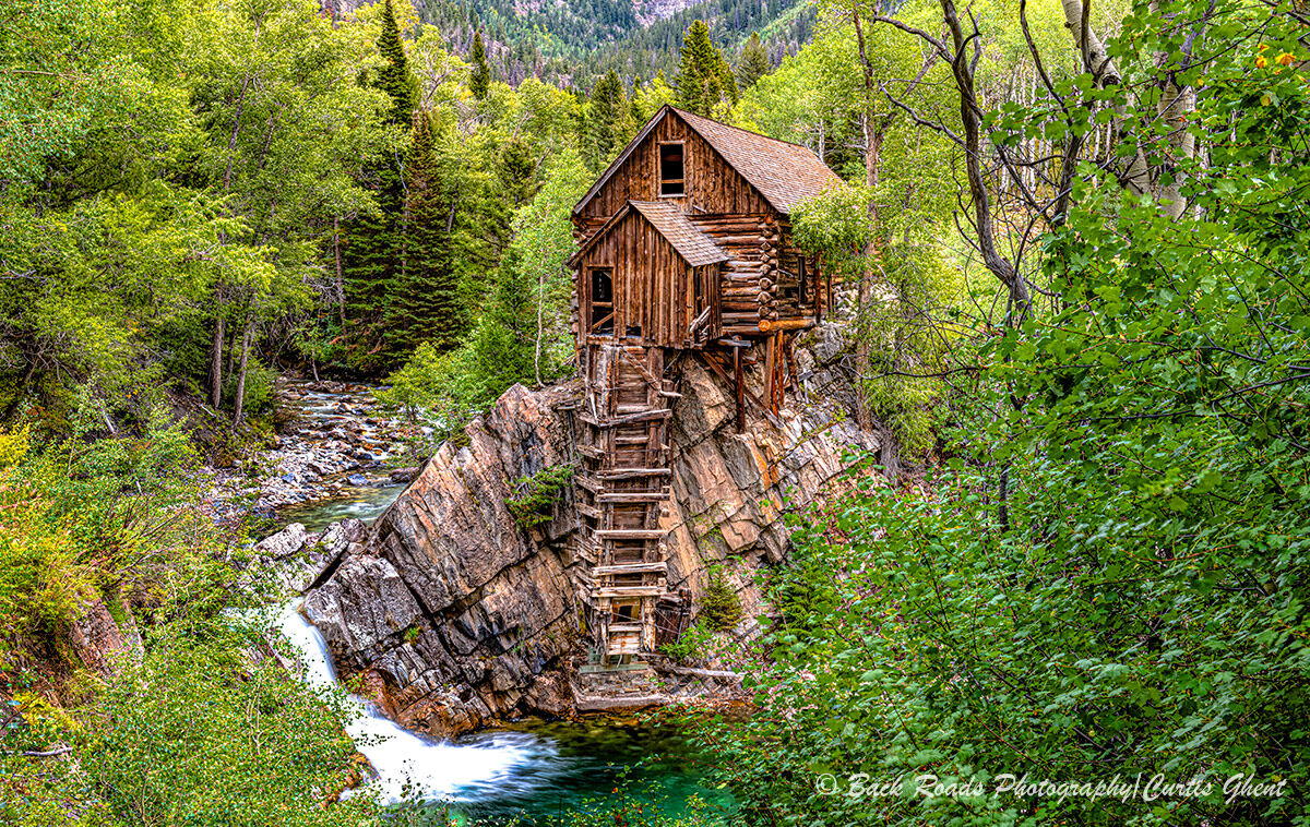 Crystal Mill, or the Old Mill is an 1892 wooden powerhouse located on a rock outcrop above the Crystal River in Crystal Colorado...