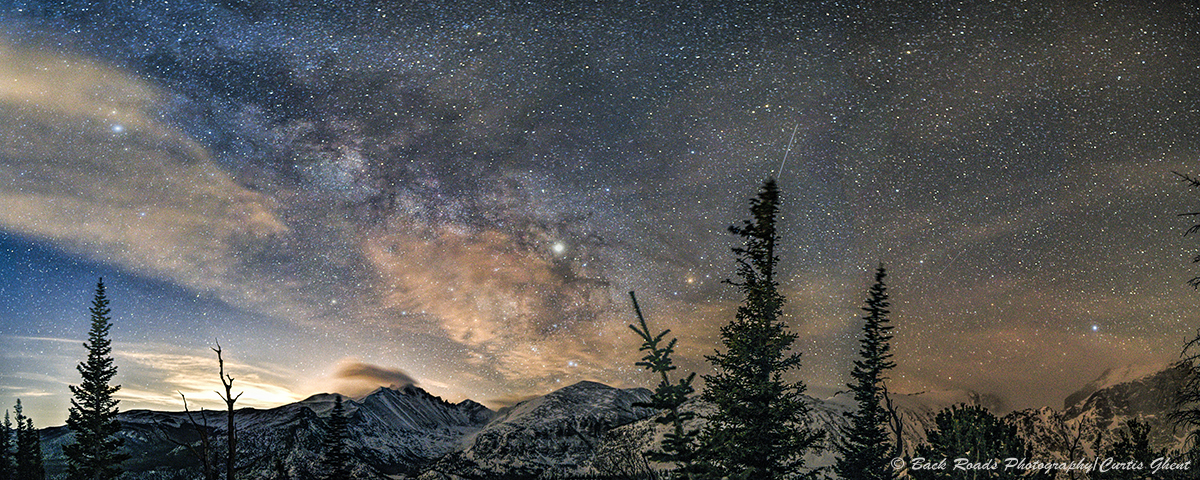 panorama, rocky mountain national park, ,milky way, longs peak, photo