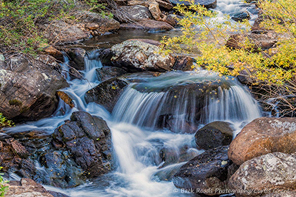 There are many un-named little waterfalls in the back country of Rocky Mountain National Park.