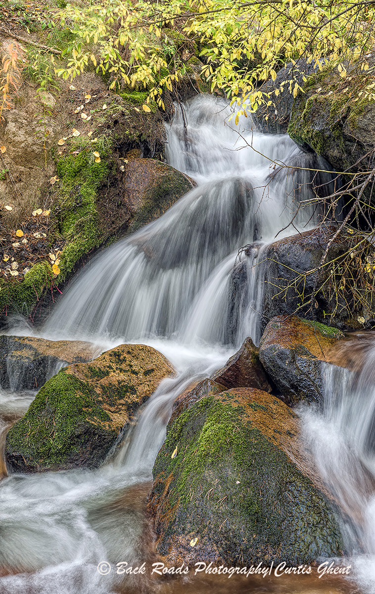 While wandering in the back country of Rocky Mountain National Park I came across this nice little waterfall one fall afternoon...