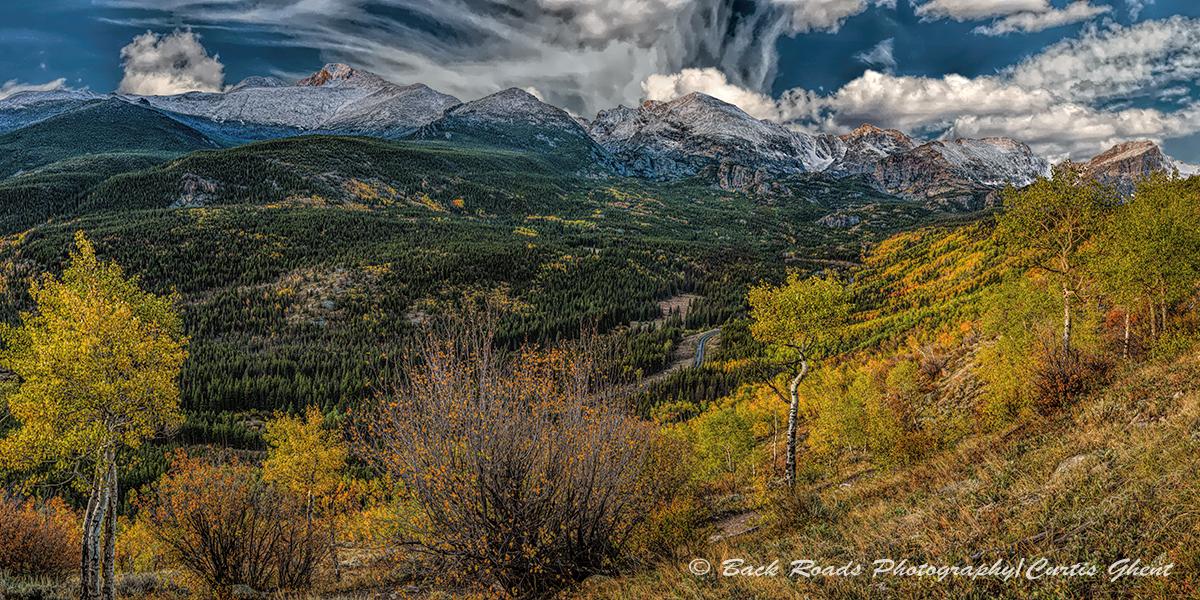 Fall, Rocky Mountain National Park, Bierstad Moraine, Clouds, photo