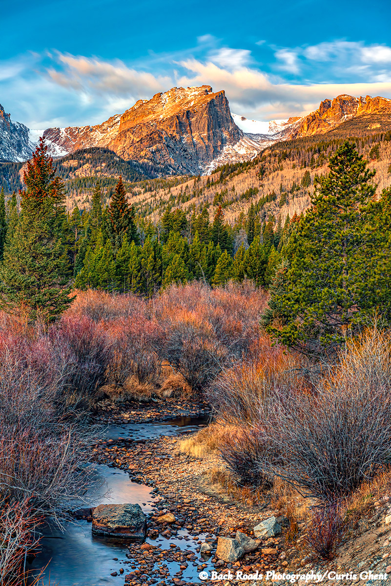 Great sunrise in Rocky Mountain National Park.