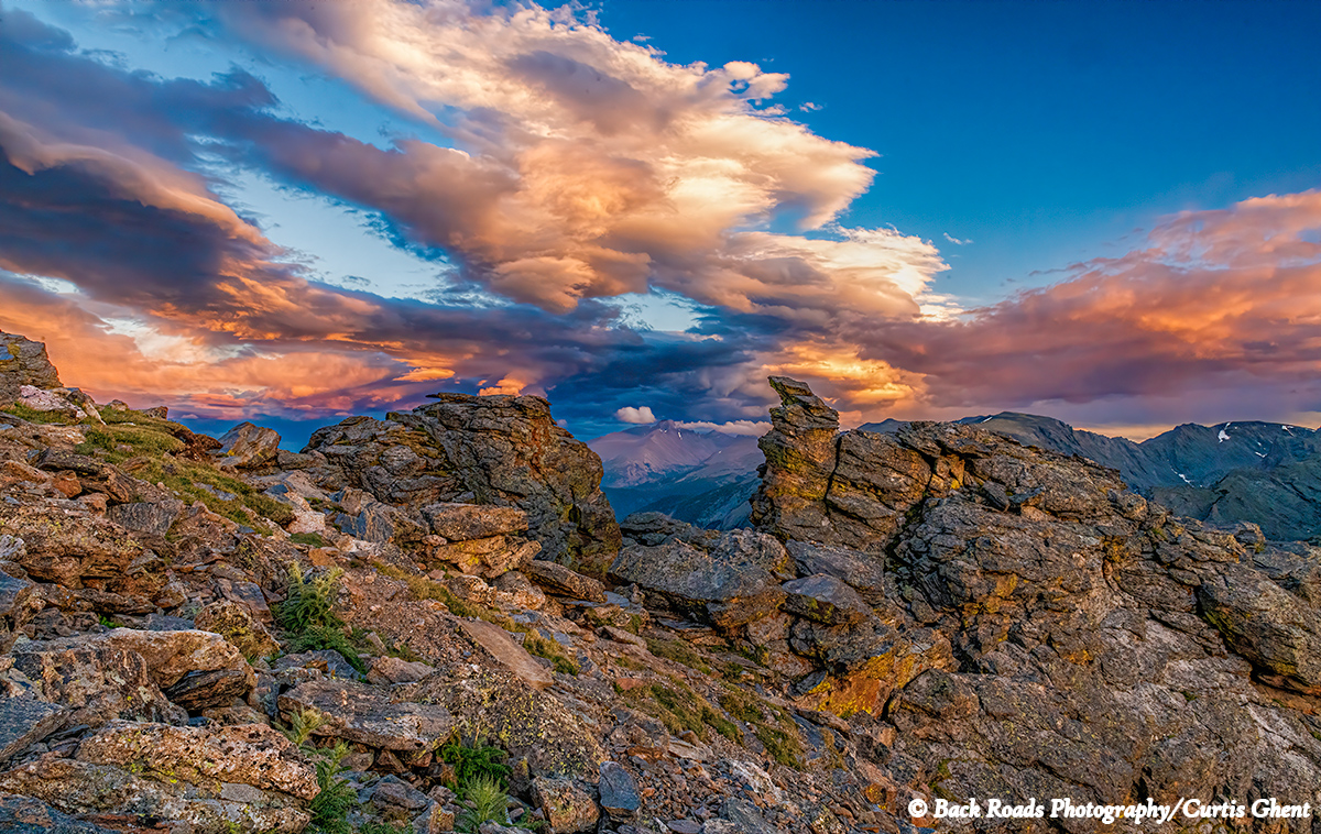 A beautiful sunset was the perfect ending for this day high in the tundra in Rocky Mountain National Park.  Longs Peak stands...