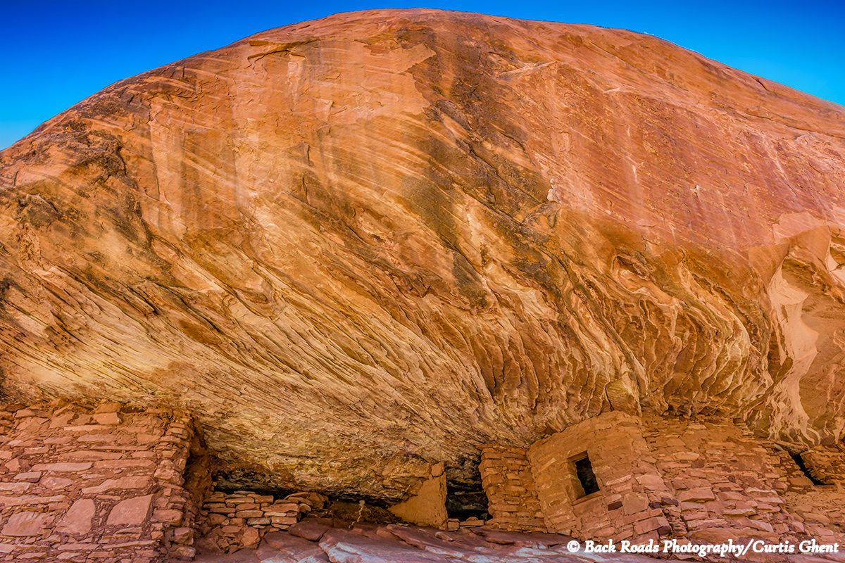Located under a very large caprock is this well preserved ruin.