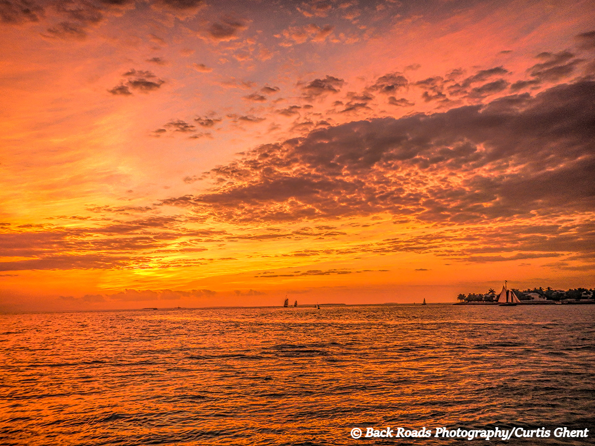 Key West is noted for its great sunsets and this evening was no exception.