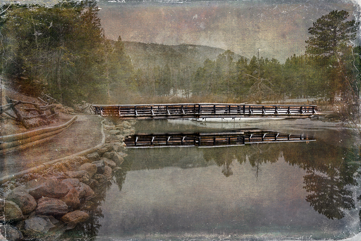 This image is a combination of two images blended together. Then I erased the background to bring out the details in the bridge...