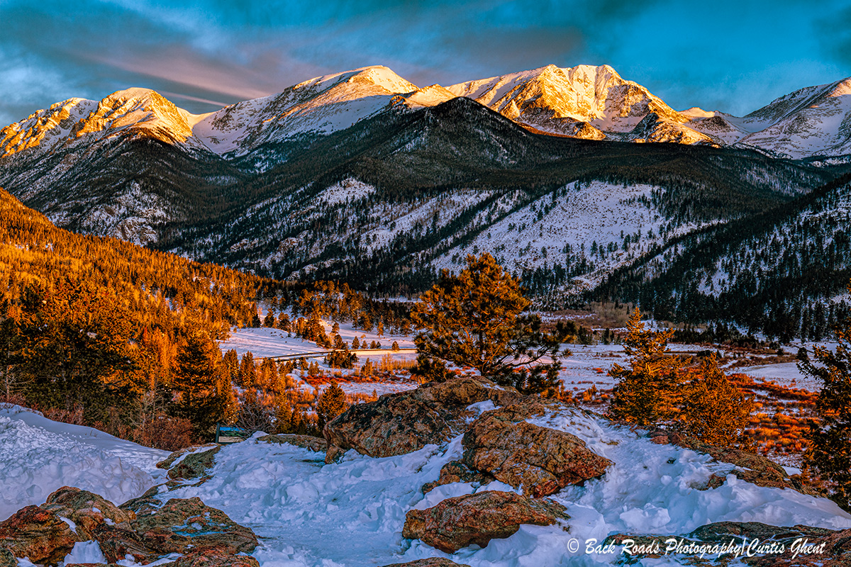 sunrise, mt. chapin,mt. ypsilon, rocky mountain national park., photo